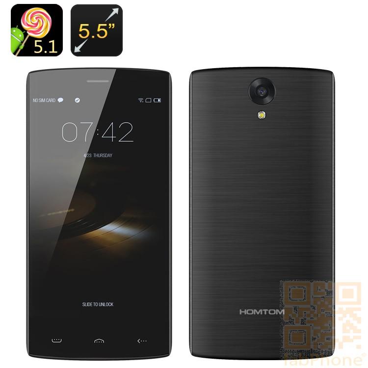 HOMTOM HT7 PRO  Smartphone - 5.5 Zoll HD Display, Android 5.1, Quad Core mit 2 GB Ram, 16 GB Speicher, LTE,  in Dunkelgrau