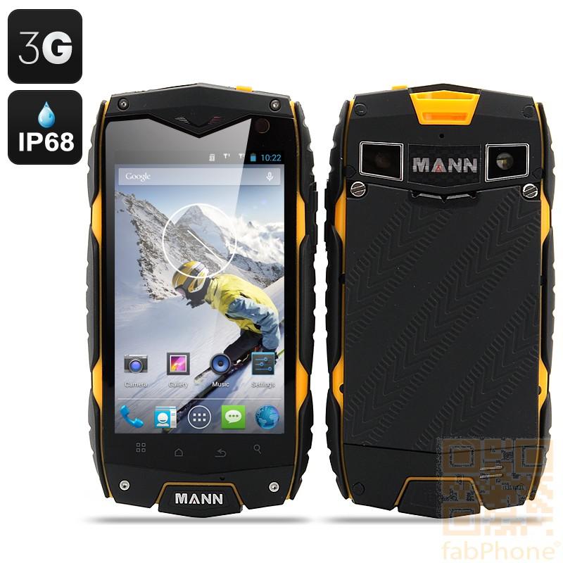 MANN ZUG 3 Outdoor Handy, IP68 wasserdicht, staubdicht, schockresistent, Android 4.3, 4 Zoll Display, Snapdragon QuadCore mit 1GB Ram, Orange