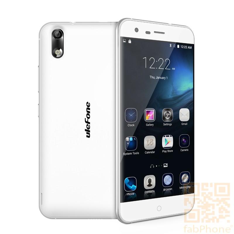 Ulefone Paris 5 Zoll  LTE Smartphone - Android 5.1, 64 Bit Octa Core CPU mit 2GB RAM, 16GB Speicher, Dual SIM  in Weiß/Gold
