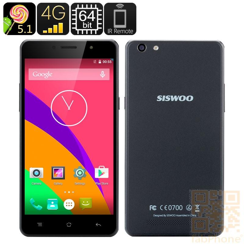 Siswoo C55 Longbow 5,5 Zoll Smartphone, 4G Konnektivität, 64Bit Octa Core mit  2 GB RAM, 13MP Kamera, IR-Kontrolle, Smart Wake in Schwarz