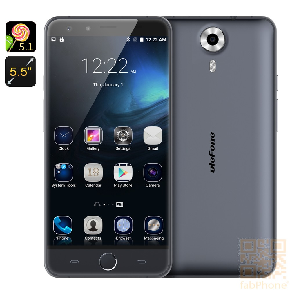 Ulefone Be Touch 3 LTE Smartphone - 5.5 Zoll FHD 2.5D Arc Display, Octa Core mit 3GB RAM , Android 5.1, Sony Kamera  in Dunkelgrau