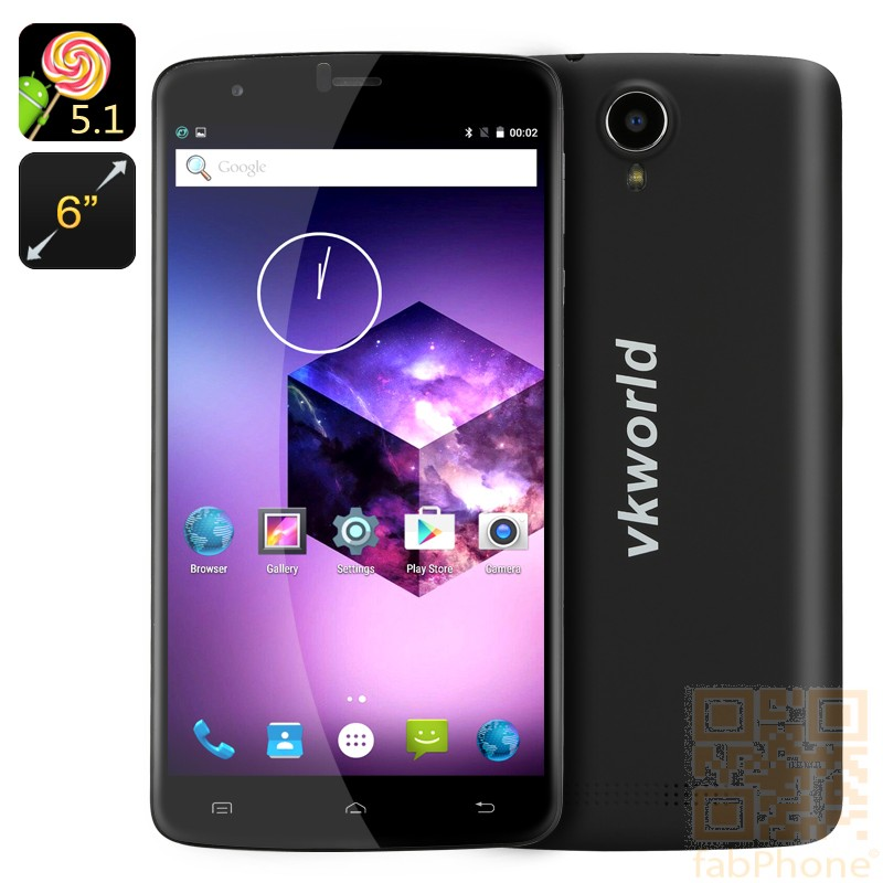 VKWorld T6 -  6.0 Zoll HD Display, Android 5.1,  LTE,  2 GB Ram, 16 GB Speicher in Schwarz