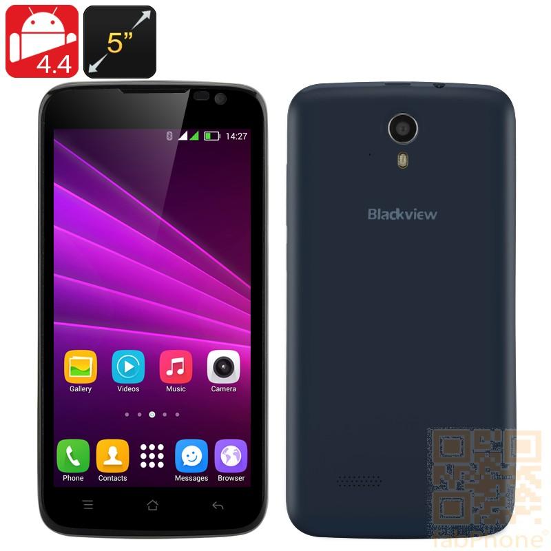 Blackview Zeta Smartphone mit 5 Zoll HD Display, Android 4.4, Octa Core CPU, 1GB RAM, 8GB ROM, Dual SIM in Schwarz
