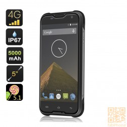 Blackview BV5000 Outdoor Handy IP67, LTE , 64bit Quad Core mit 2 GB Ram, 5 Zoll HD Display , 5000mAh Akku  in Schwarz