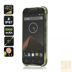 Blackview BV5000 Outdoor Handy IP67, LTE , 64bit Quad Core mit 2 GB Ram, 5 Zoll HD Display , 5000mAh Akku  in  Militär Grün