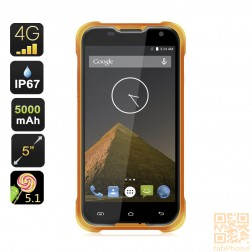 Blackview BV5000 Outdoor Handy IP67, LTE , 64bit Quad Core mit 2 GB Ram, 5 Zoll HD Display , 5000mAh Akku  in Orange