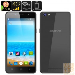SISWOO C50 Smartphone mit Android 5.0 Lollipop, LTE, 5 Zoll HD OGS Display, 64 Bit Quad Core mit 1GB Ram, in Schwarz
