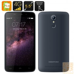 HOMTOM HT17 Smartphone - 5.5 Zoll HD Display, Android 6.0, Quad Core,  LTE  in Blaugrau