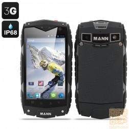 MANN ZUG 3 Outdoor Handy, IP68 wasserdicht, staubdicht, schockresistent, Android 4.3, 4 Zoll Display, Snapdragon QuadCore mit 1GB Ram, Schwarz