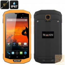 MANN ZUG 5S+ Outdoor Handy,  5 Zoll HD Display, IP67 wasserdicht, staubdicht, schockresistent, Android 4.4, 4G, Qualcomm QuadCore mit 2GB Ram in Orange