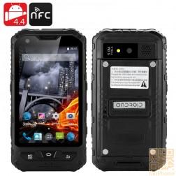 """Outdoor Smartphone """"Steinbock"""", 4 Zoll, QuadCore, Android 4.4, IP67 wasserdicht, staubdicht, schockresistent, 3000mAh Akku, Schwarz"""