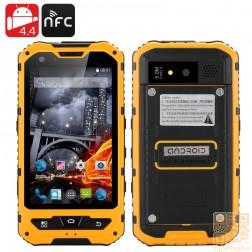 "Outdoor Smartphone ""Steinbock"", 4 Zoll, QuadCore, Android 4.4, IP67 wasserdicht, staubdicht, schockresistent, 3000mAh Akku, Orange"
