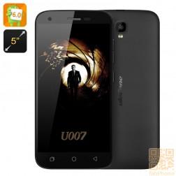 Ulefone U007 5 Zoll  Smartphone - Android 6, Sony Kamera, Quad Core CPU mit 1GB RAM, 8GB Speicher, Dual SIM  in Schwarz