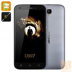 Ulefone U007 5 Zoll  Smartphone - Android 6, Sony Kamera, Quad Core CPU mit 1GB RAM, 8GB Speicher, Dual SIM  in Grau