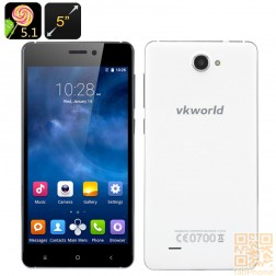 VKworld 700x - 5.0 Zoll HD Display, Android 5.1, Quad Core mit 1 GB Ram, 8 GB Speicher in Weiß