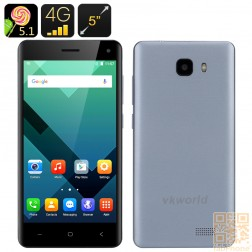VKWorld T5se -  5.0 Zoll HD Display, Android 5.1,  LTE,  2 GB Ram, 16 GB Speicher in Blausilber
