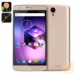 VKWorld T6 -  6.0 Zoll HD Display, Android 5.1,  LTE,  2 GB Ram, 16 GB Speicher in Gold