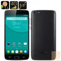 Doogee Y200 Smartphone, 5.5 Zoll HD Display, Quad Core CPU mit 2GB Ram, 32GB Speicher, Fingerabdruck Sensor, LTE in Schwarz