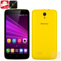 Blackview Zeta Smartphone mit 5 Zoll HD Display, Android 4.4, Octa Core CPU, 1GB RAM, 8GB ROM, Dual SIM in Gelb