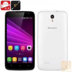 Blackview Zeta Smartphone mit 5 Zoll HD Display, Android 4.4, Octa Core CPU, 1GB RAM, 8GB ROM, Dual SIM in Weiß